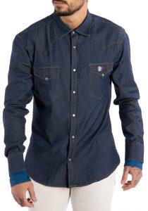 Takeshy Kurosawa 82934DENIM vīriešu krekls, zils