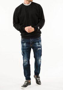 Takeshy Kurosawa 83094NERO vīriešu džemperis, melns