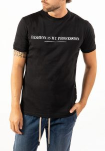 Takeshy Kurosawa 83155NERO vīriešu T-krekls, melns