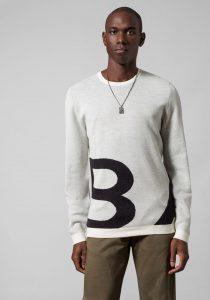 Baldessarini B430001.50681015 vīriešu džemperis, gaiši pelēks