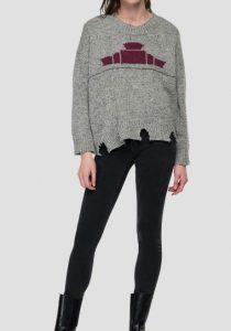 Replay DK7206.000.G23146M0 sieviešu džemperis, pelēks