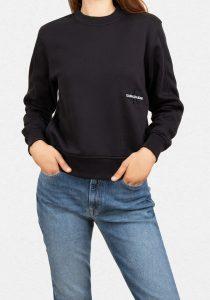 Calvin Klein Jeans J20J216235BEH sieviešu džemperis, melns