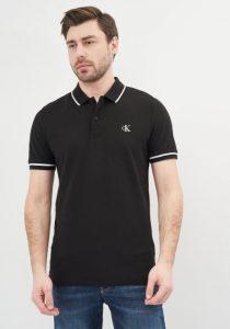 Calvin Klein Jeans J30J315603BAE vīriešu polo krekls, melns