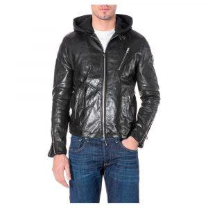 Replay M8197.000.84272010 vīriešu ādas jaka, melna