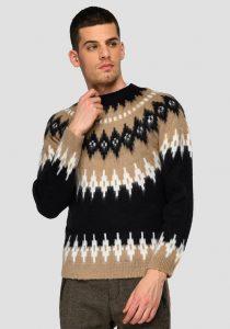 Replay UK8308.000.G2265205 vīriešu džemperis, melns