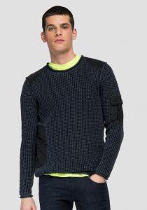 Replay UK8310.000.G21280G9 vīriešu džemperis, tumši zils