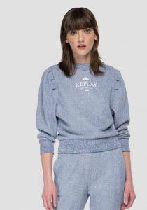 Replay W3609.000.22672160 sieviešu džemperis, pelēks