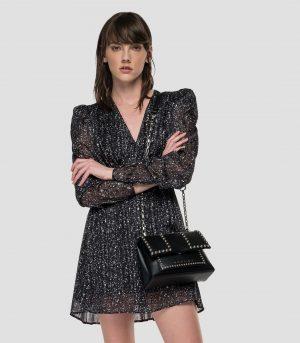 Replay W9681A.000.73510010 sieviešu kleita, melna