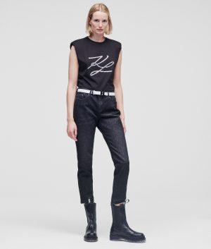 Karl Lagerfeld 211W1100D10 sieviešu džinsi, melni