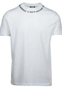 Karl Lagerfeld 755101 512224 10 vīriešu T-krekls, balts