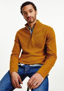 Tommy Hilfiger MW0MW19537KD0 vīriešu džemperis, brūns