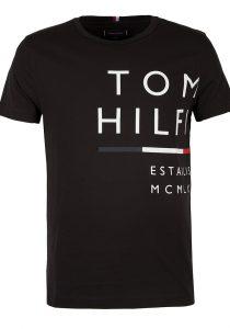 Tommy Hilfiger MW0MW20149BDS vīriešu T-krekls, melns