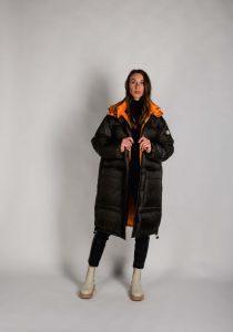No.1 Como VICKI7168 sieviešu ziemas jaka, tumši pelēka